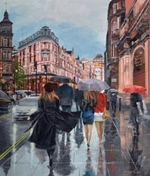 Shaftesbury Avenue by Ziv Cooper - Original Painting on Box Canvas sized 34x40 inches. Available from Whitewall Galleries